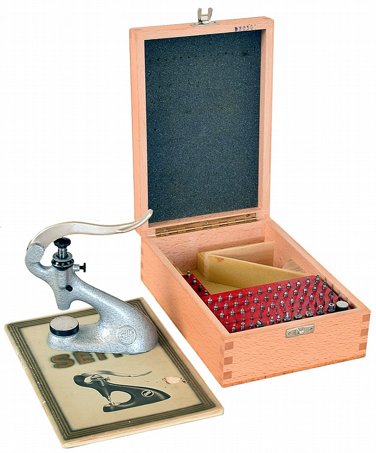 Seitz standard jewelling tool with beech wood storage box and Seitz manual / catalog