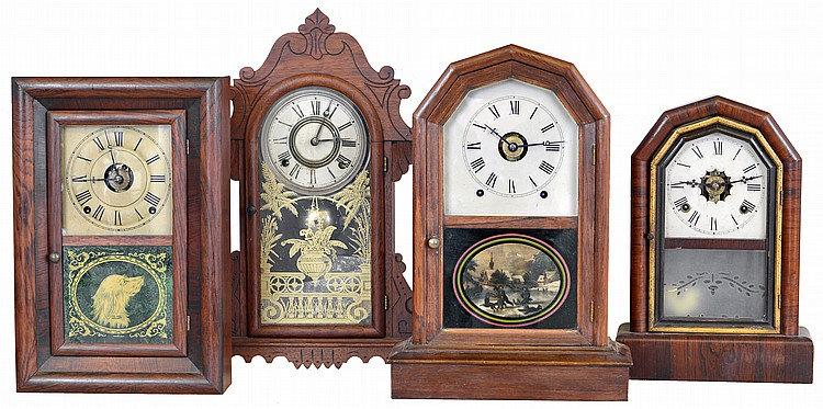 Clocks- 4 (Four): (1) Seth Thomas, Thomaston, Conn.,