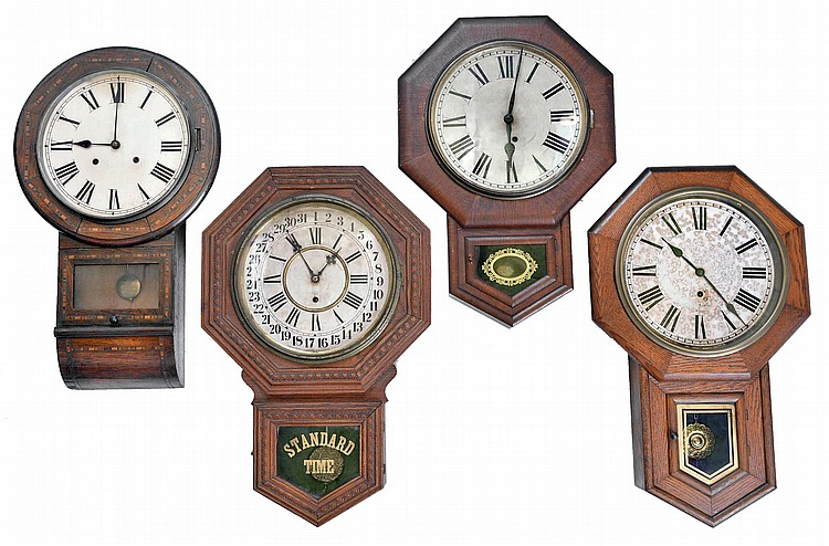 Clocks- 4 (Four): (1) Sessions Clock Co., Forestville, Conn.,