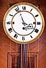 Vienna Regulator, unsigned German walnut 3 weight quarter striking 8 day large hanging wall clock, c1880