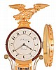 Theodore E. Burleigh, Winchester, Mass., 8 day, weight brass movement copy of a Lemuel Curtis, Concord, Mass., Girandole. Marked No. 23