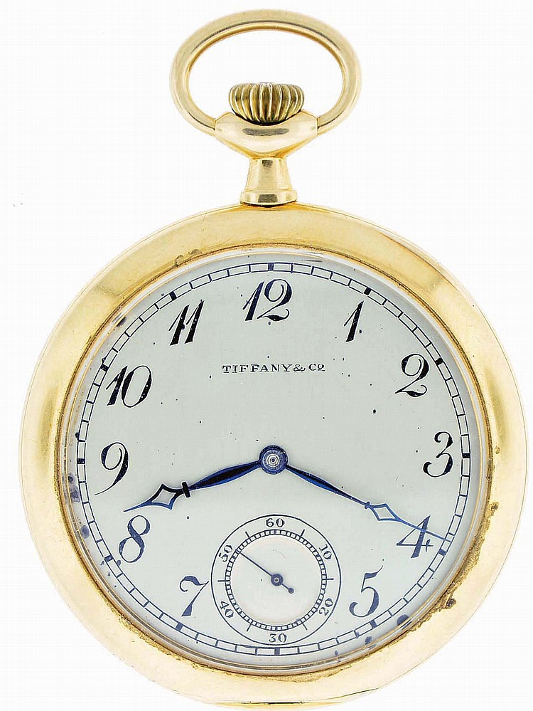 Patek, Philippe & Cie., Geneva, Switzerland, for Tiffany & Co., man's pocket watch, 18 jewels, stem wind and set, adjusted to 6 positions, temperature and isochronism, cotes de Geneve decorated