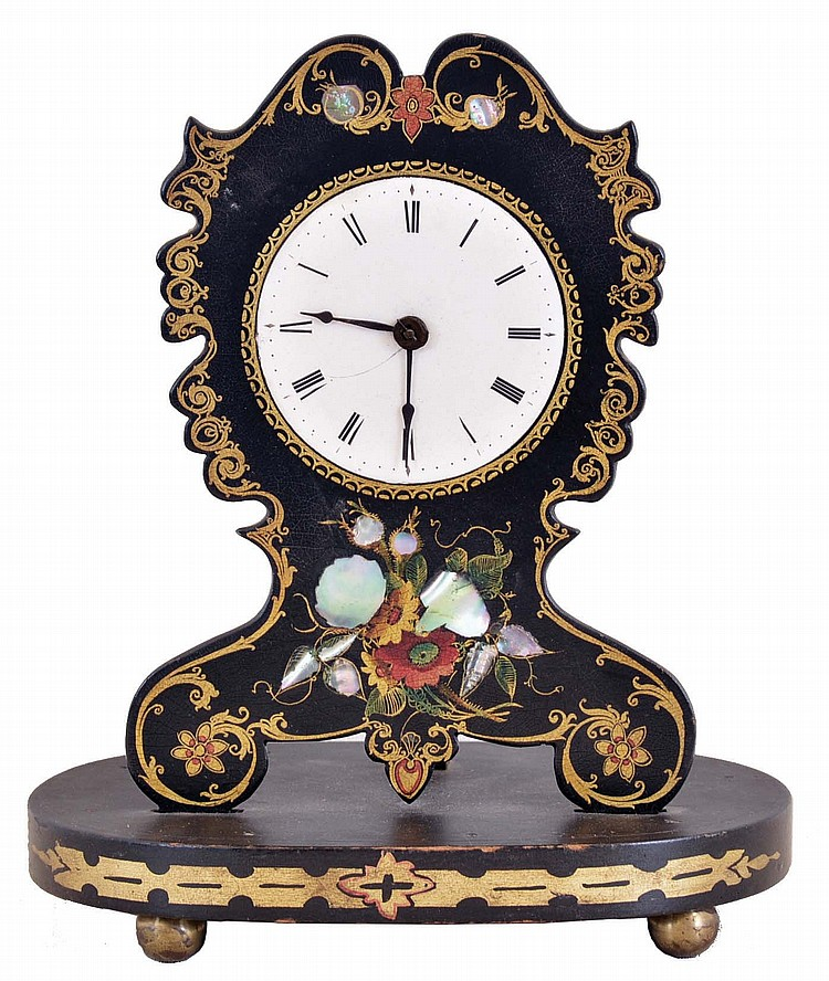 Coe & Co., New York, 30 hour, spring brass shelf timepiece with Samuel N. Botsford's patent lever escapement movement. This timepiece was made by Jerome Manufacturing Co., New Haven, Conn.