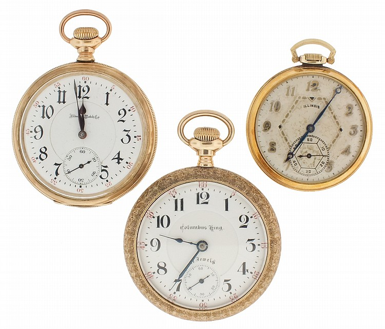 Pocket watches- 3 (Three), the first an 18 size