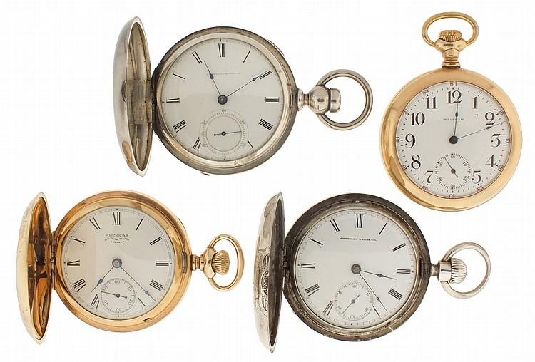 Pocket watches- 4 (Four), all 18 size Waltham, the first a model 1892