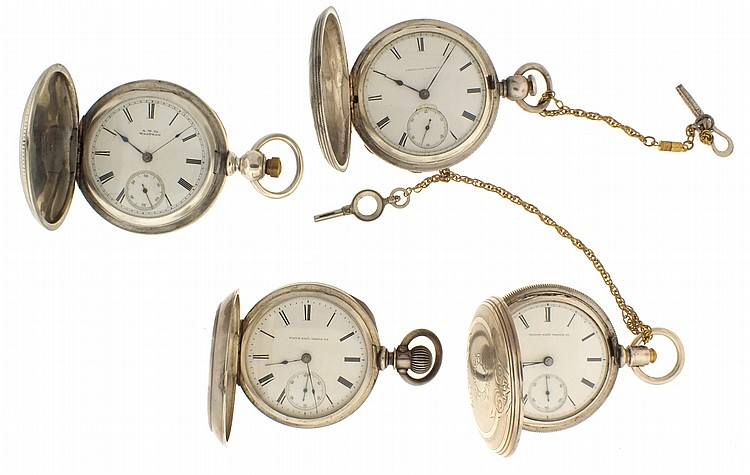 Pocket watches- 4 (Four), all 18 size, the first an Elgin