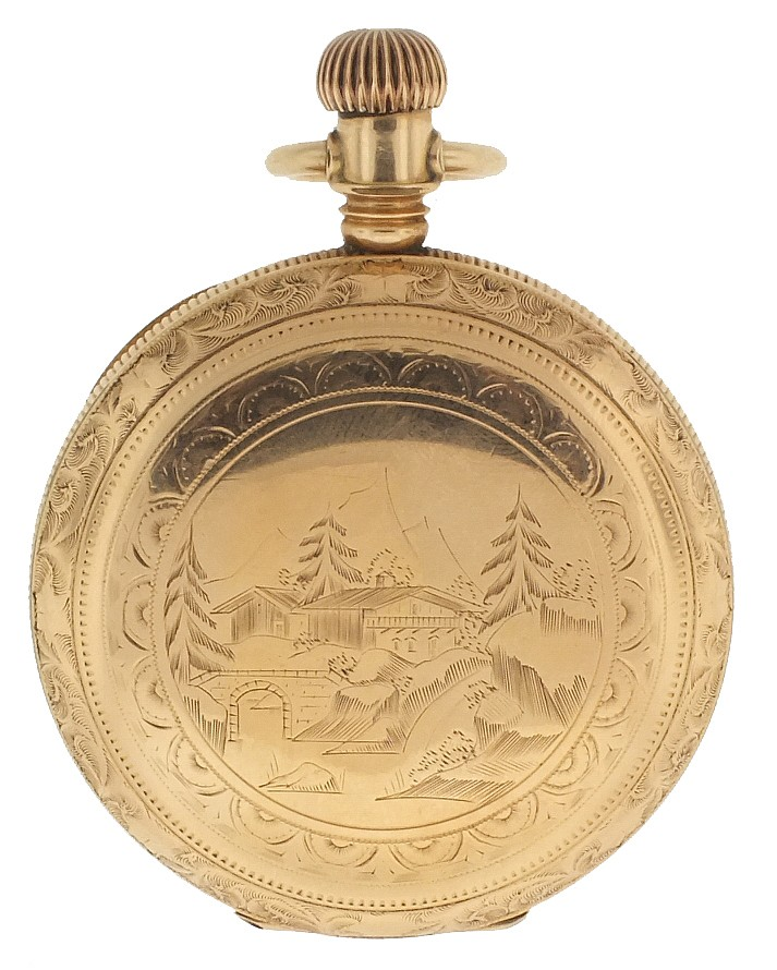 Wrist and pocket watches- 3 (Three), the first an 18 size Non Magnetic watch Co., 15 jewel gilt movement, Roman numeral white enamel dial, gold filled hunting case, serial #300650, the next a man's Bulova wrist watch, 23 jewel automatic movement,