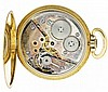 Movado, Switzerland, man's gold dress watch, 17 jewels, stem wind and set, cotes de Geneve decorated nickel plate movement with lever escapement in a 14 karat, yellow gold, hinged back and snap bezel, open face case with presentation on case back to