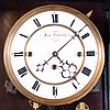 Jos. Lederer, Wien, Austria 3- weight grand sonnerie walnut Vienna Regulator wall clock