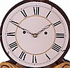 Unsigned New Hampshire or Massachusetts Lyre Banjo hanging clock with a weight driven 8 day time and strike movement in a mahogany and gilt case.