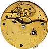 P. Norris, Liverpool, mans pocket chronometer with wind indicator, 16 jewels, key wind and set, gilt half plate movement, with pivoted detent escapement, the cut bimetallic balance with gold timing screws and helical hairspring, in a later, purpose