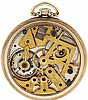 Dudley Watch Co., Lancaster, Penn., model 3 masonic pocket watch, 12 size, 19 jewels, stem wind and set, nickel plate movement with gilt cocks and bridges in the form of various masonic symbols, with lever escapement and cut bimetallic balance in a