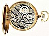 E. Howard Watch Co. (Keystone), Waltham, Mass., Series 0, 16 size, 23 jewels, stem wind and lever set, adjusted to 5 positions, temperature and isochronism, straight line damascened nickel bar movement with lever escapement, cut bimetallic balance,