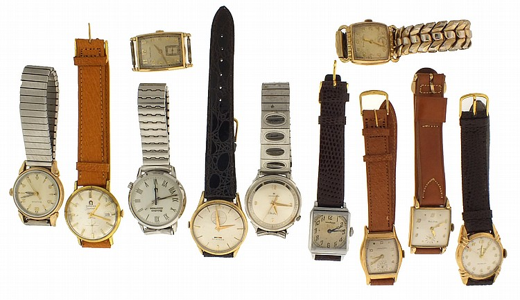 Pocket and wrist watches- 19 (Nineteen), including Gruen, Longines, Rockford, Waltham, Bulova, Hamilton, and others