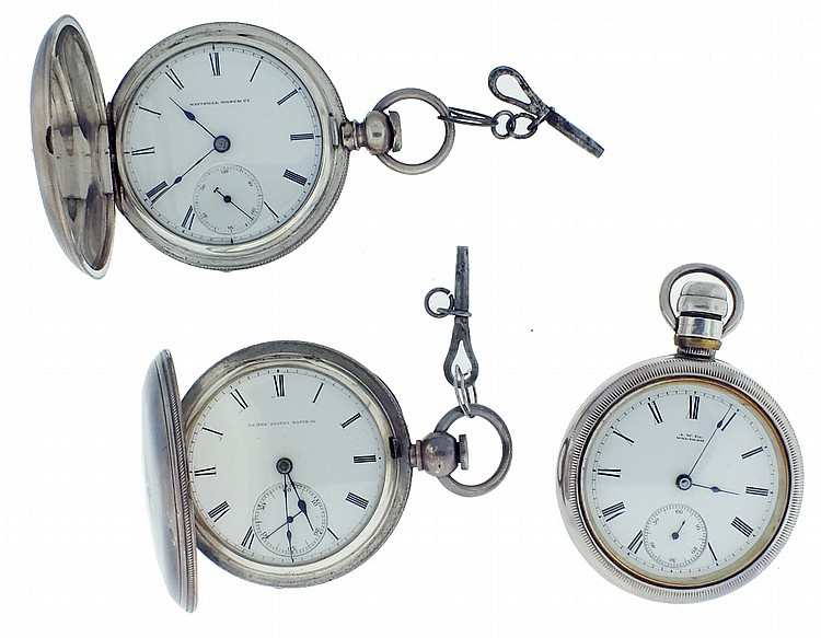 Pocket watches- 3 (Three), all 18 size, the first a United States Watch Co.