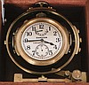 Hamilton Watch Co., Lancaster, Penn., model 22 chronometer with wind indicator, 35 size, 21 jewels, stem wind, pin set, adjusted to 6 positions and temperature, straight line damascened nickel plate movement, with lever escapement and micrometric