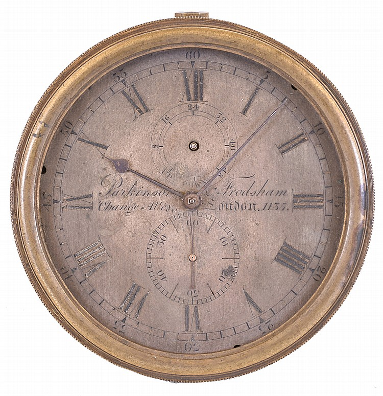 Parkinson & Frodsham, London, a two day marine chronometer movement and dial, with bowl, serial #1135, for parts