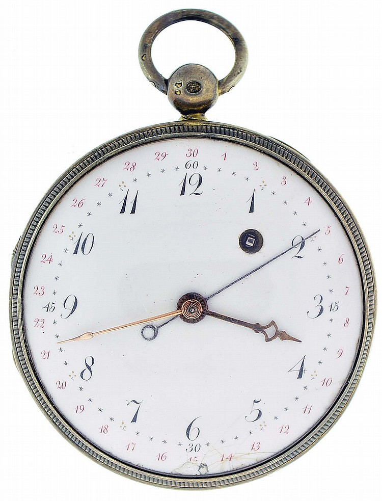 Jean Andre Beltz, a Paris, man's verge fusee pocket watch with date, key wind and set, gilt full plate movement with pierced and engraved balance bridge, in a silver gilt consular case with Arabic numeral, white enamel dial with star form minute