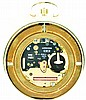 Longines, Switzerland, 1984 Olympics commemorative pocket watch, quartz movement, gold tone dial and hands,14 karat yellow gold case with diamond set cover, 51.8g TW, with original boxes