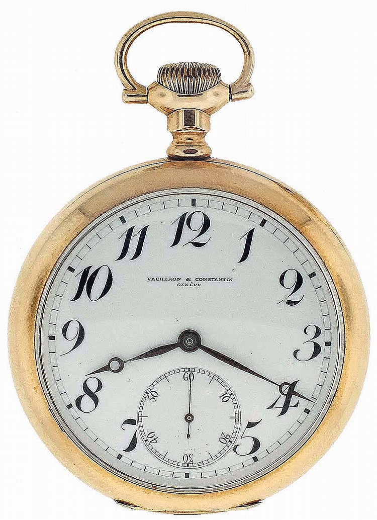 Vacheron & Constantin, Geneva, Switzerland, for the North American market, man's railroad grade pocket watch, 16 size, 21 jewels, stem wind and lever set, adjusted to 5 positions, temperature and isochronism nickel bar movement with lever escapement,