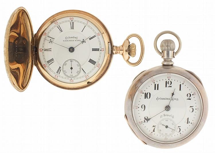 Pocket watches- 2 (Two), both 18 size Columbus, the first a