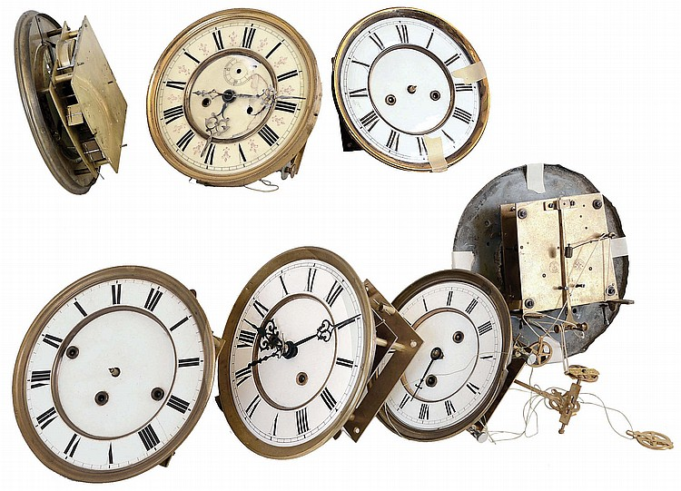 German Vienna Regulator movements (only) and repair parts: 7