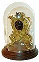 Austria, Zappler clock, gilt cast brass case with