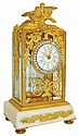 France, desk or table clock, case with gilt brass