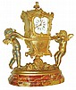 France, very decorative spelter desk clock