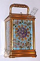 C.1900, French, Brass Cased Carriage clock with 4