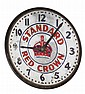 Standard Red Crown electric advertising clock,