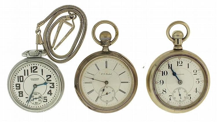 St Pocketwatch Vintage 16 Size Waltham Cres