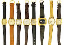Wrist watches- 13 (Thirteen), Swiss, including Wittnauer, Bulova, Benrus, Customtime, Kingston, Movado, and others