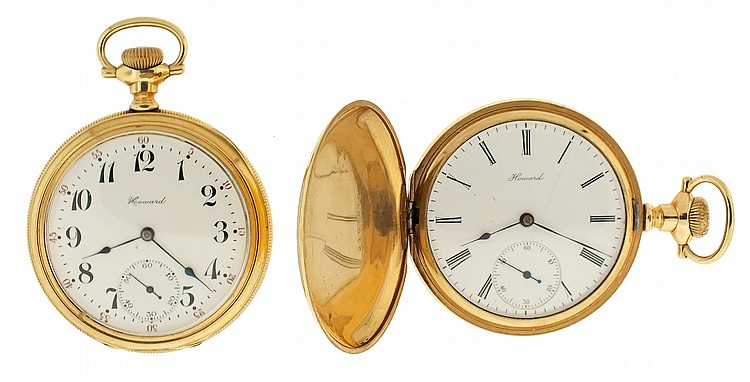 Pocket watches- 2 (Two), both 16 size Howard Keystone model