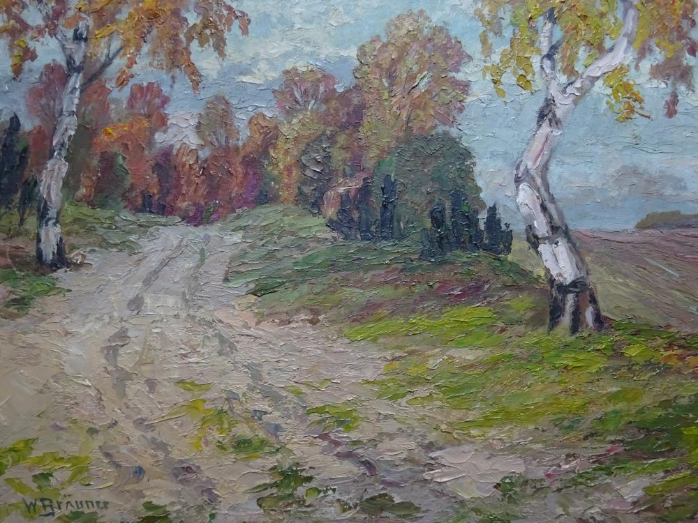 Bräuner - Weg mit Birken