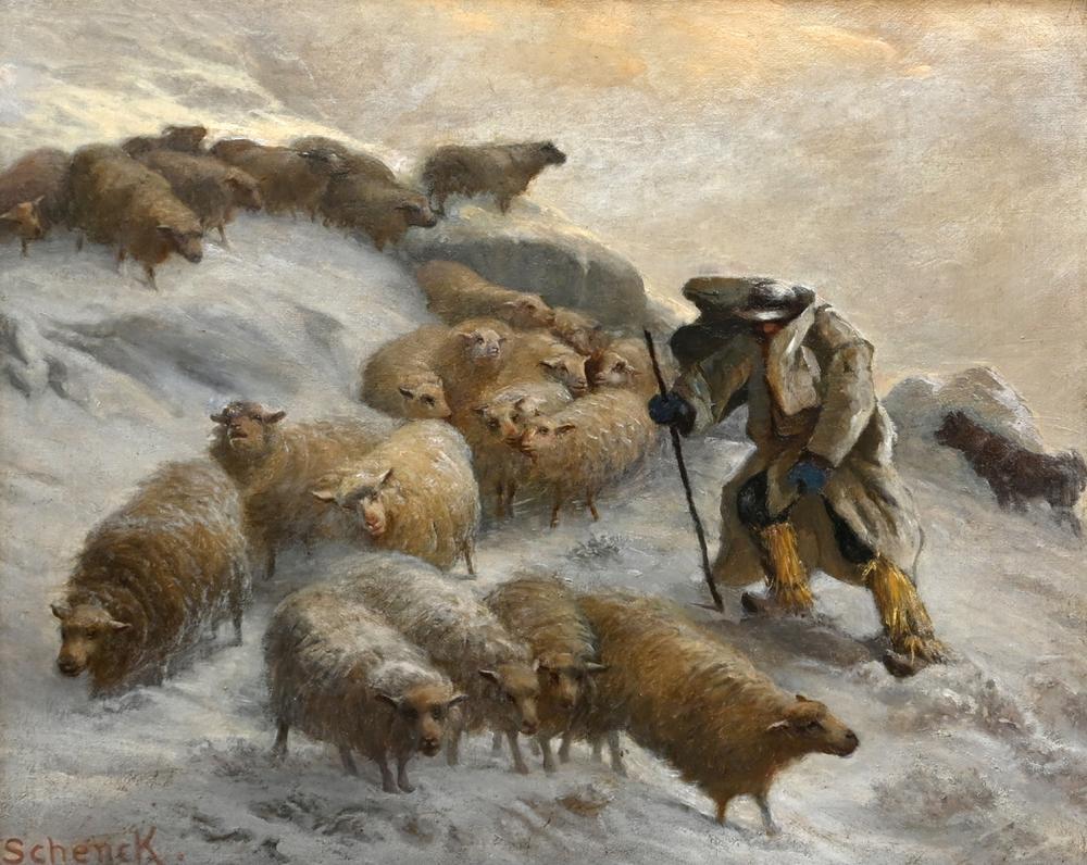 Schenck - Schafhirte mit Herde