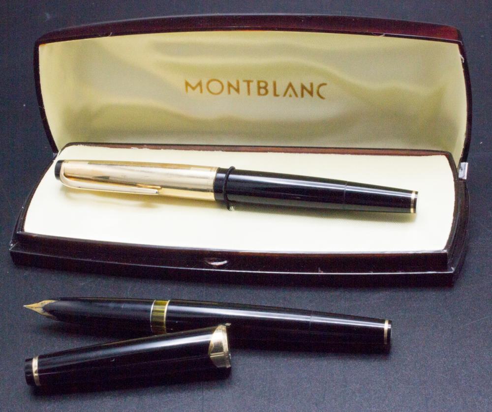 Zwei Füllfederhalter / Two fountain pens, Montblanc, Germany, um 1970