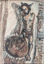 Adolf Büger (1885-1966), 'Kreuzigungsszene' / 'A crucifixion scene'