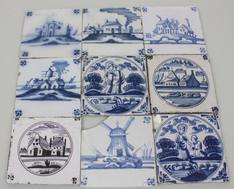lot 9 delfter kacheln lot 9 glaze tiles delft 19 jh. Black Bedroom Furniture Sets. Home Design Ideas