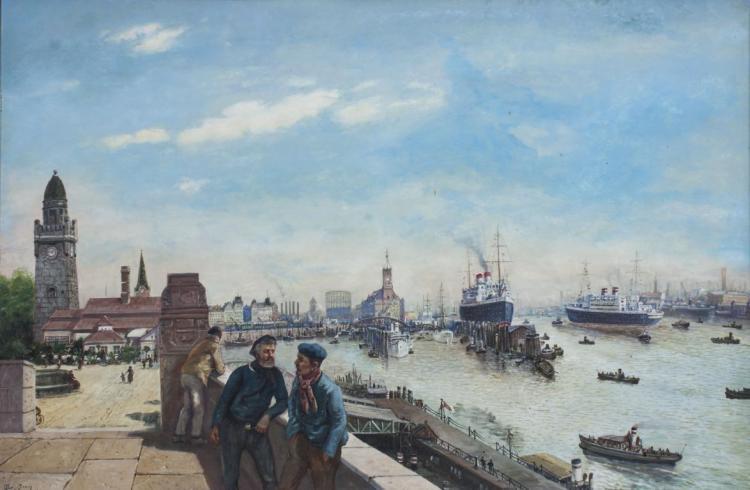 Alois Broch, Hamburger Hafen / Habor Of Hamburg, 1934