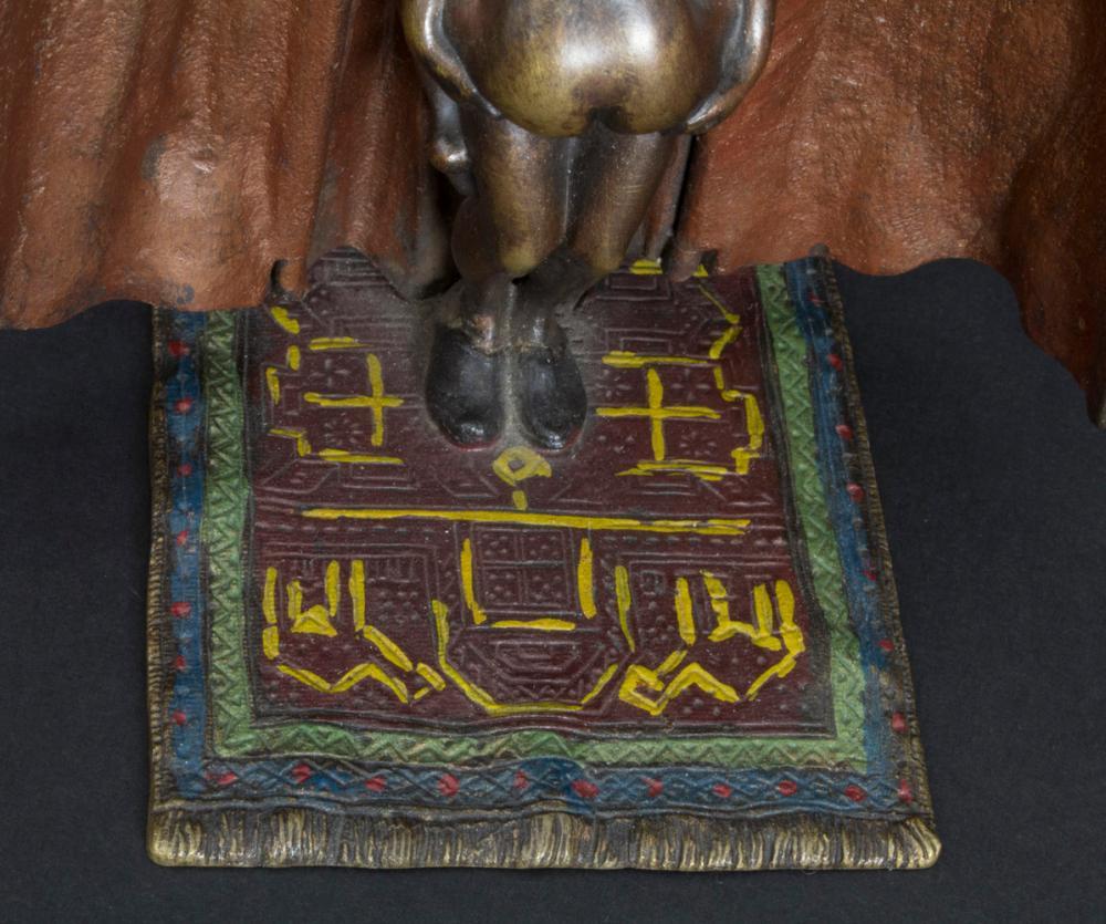 Wiener Bronze von Xaver Bergmann, Erotika-Figur 'Orientale mit Katze' / An erotic figure 'An Arab with a cat' Wiener Bronze von Xaver Bergmann, Erotika-Figur 'Orientale mit Katze' / An erotic figure of 'An Arab with a cat'