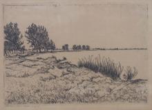 Alexander Olbricht (1876-1942), 'Flussufer' / 'A river bank'
