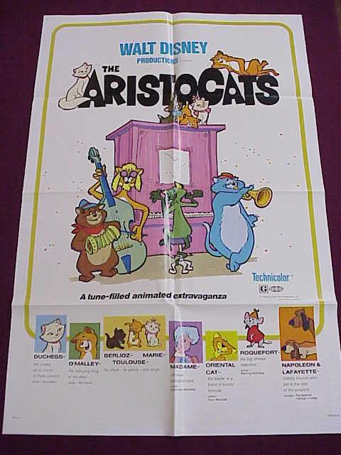 Poster - Aristocats - Disney - 27x41 Folded