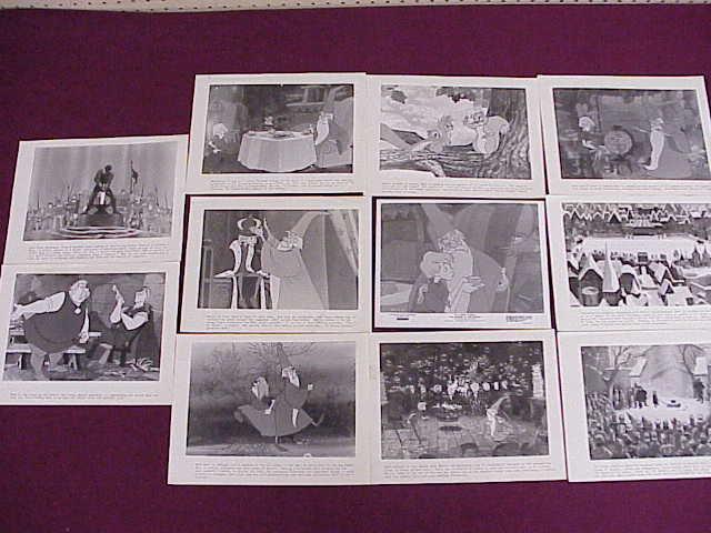 11 Movie Still Photos - Sword in the Stone - Disney - 6 3/4 x 9 1/4