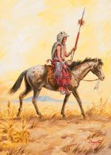 "Dagosta, Andy (1923-2009) ""Indian on Appaloosa"""