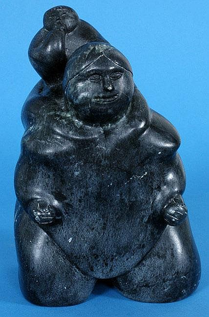 Inuit Sculpture of a Mother and Child by Martha