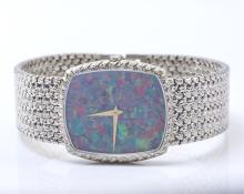 Piaget 18K White Gold and Opal Wrist Watch.