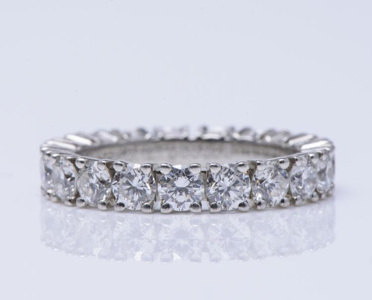 Cartier Plat. Diamond Eternity Band.