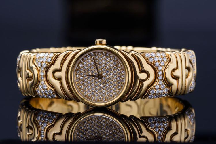 Bvlgari Parentesi 18k YG and Diamond Watch.