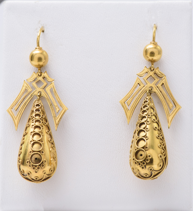 Antique Filigree Gold Earrings.